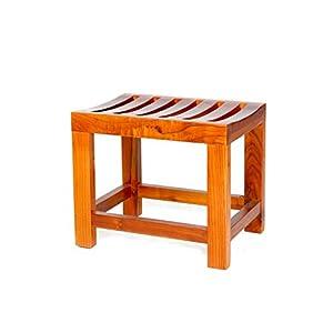 Jiaz Muebles/estante/estante de almacenamiento Taburete de ducha con marco de bambú con estante Taburete de baño…