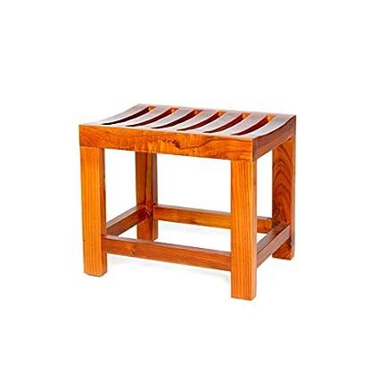 Jiaz Muebles/estante/estante de almacenamiento Taburete de ducha con marco de bambú con estante Taburete de baño Taburete Adecuado para uso en interiores o exteriores