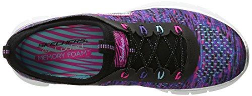 Skechers Glider Deep Space, Baskets Basses Fille Noir (Bkmt Noir/Multicouleur)