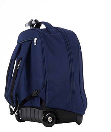 Imagen de trolley  invicta  benin  con ruedas y correas de hombro ocultables azul 35lt alternativa