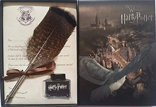 Juego de bolígrafos con tinta de Harry Potter Fans de plumas antiguas para caligrafía Set de regalo para niños amigo cumpleaños