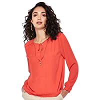 ONLY women's Riley Blouse in Bittersweet, Size: 38 EU (Manufacturer Size:Medium)