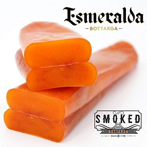 Bottarga Esmeralda {GERÄUCHERT} - Mittelmeer Kaviar - (Meeräsche Roe) 100 ~ 130 gm Fänge von Wild aus dem Mittelmeer - KOSCHER (GERÄUCHERT, 100 ~ 130 GR)