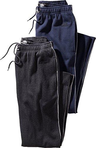 Nordcap Herren Jogginghosen-Set in Marineblau & Schwarz, kuschelige Sporthose im Doppelpack, bequeme Freizeit-Hosen (Größe: S - XXXXL) (Herren Lounge-set)
