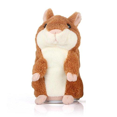 Bescita Bescita Talking Hamster Elektronisches Haustier Sprechen Plüsch Buddy Maus für Kinder (Kaffe)