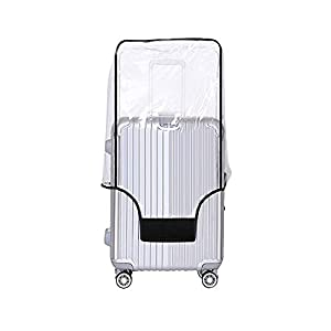 Yotako Clear PVC Suitcase Cover Protectors 24 28 30 Inch Luggage Cover for Wheeled Suitcase