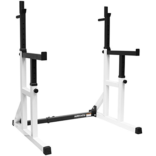 Hardcastle - rack regolabile da bodybuilding per lo squat con barre di sicurezza e da dip