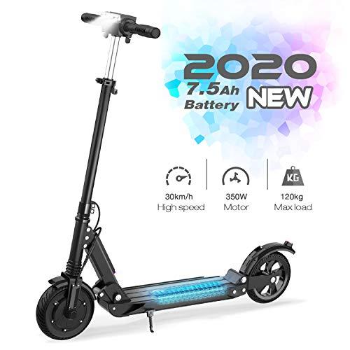GeekMe Elektroroller | Zusammenklappbarer Elektroroller Roller mit 3 Geschwindigkeitsmodi Bis zu 30 km/h | 7,5 A Li-Ionen-Akku | Maximale Belastung von 120 kg Für Erwachsene und Kinder