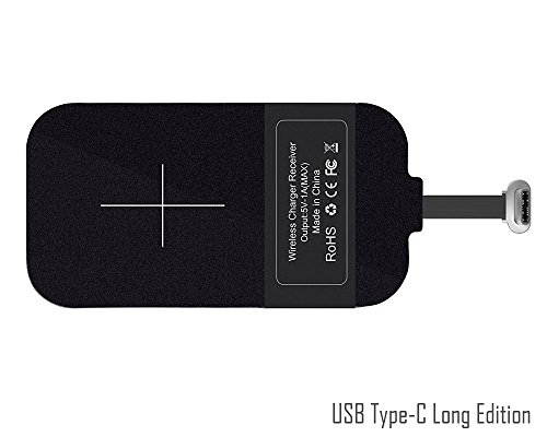 USB Type-C QI carga inalámbrica Receptor [largo Edition]