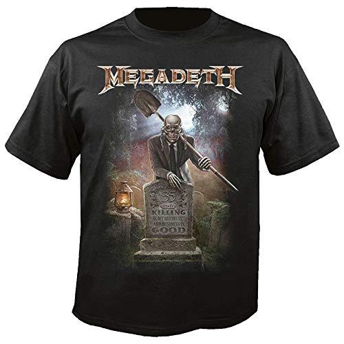 Megadeth - Camiseta - para Hombre Negro Negro (L