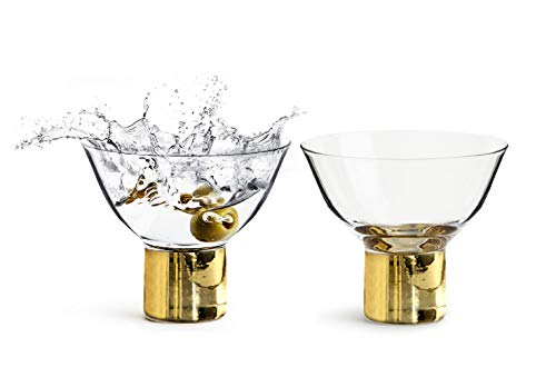 Sagaform Club Gold Cocktail- / Martini-Gläser, 150 ml, 2-teiliges Set Purple Martini-gläser