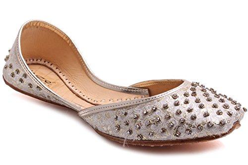 Unze Für Frauen Luceia 'Dekoriert Lederpumps - LS508 Gold