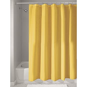 yellow and teal shower curtain. InterDesign Poly Bath Curtains  Long Shower Curtain Made Of Polyester Yellow