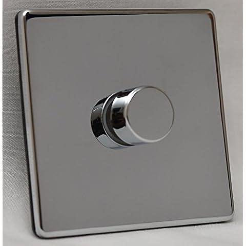 Varilight V-Pro - Regulador de intensidad para luces LED (1 luz, 1 o 2 vías, 400 W, cromo reflectante)