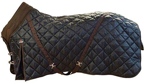 CATAGO Stalldecke 500g Füllung schwarz-braun 420D Cool Max Gehfalte Kreuzgurte (135 cm)