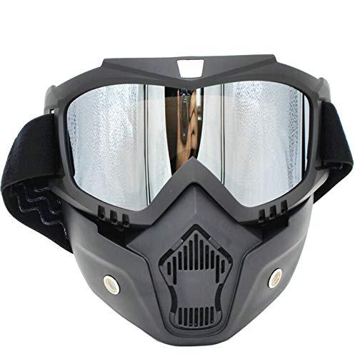 DOLOVE Outdoor Brille Beschlagfrei Sportbrille Outdoor Unisex Schutzbrille Winddicht Silber