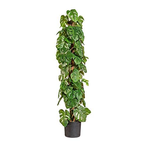 Kunstpflanze Philodendron Split Grün im Topf 90 cm mit Stamm Baumfreund – 1917607-50