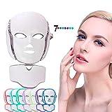 Mascarilla LED Máscara de terapia de luz de 7 colores Colágeno, Tensado, Acné Anti Envejecimiento y Rejuvenecimiento de la piel saludable Máscara de belleza