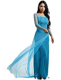MSemis Disfraz de Princesa Hada para Adultos Vestido de Azul Cosplay para Mujer  Traje Gasa con ac99072de568