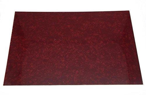 kaish rot Pearl 3Blanko Plektrumschutz Schlagbrett Material Spannbetttuch 290x 430(mm) (Spannbetttuch Pearl)