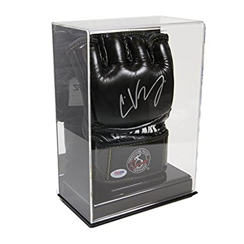 Deluxe Acrylic Single UFC / MMA Glove Display Case with Mirror Back by SAFTGARD SUPPLIES