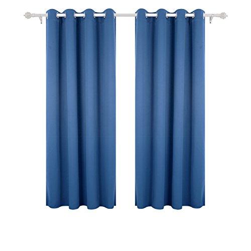 Deconovo tende oscuranti con occhielli termo isolanti riduzione del rumore 1 paio 140 x 175 cm blu
