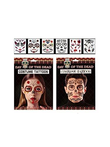 DISBACANAL Tatuajes de Halloween para Cara