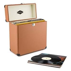 Auna tts6 valigetta porta vinili pelle stile retr - Porta dischi vinile ...
