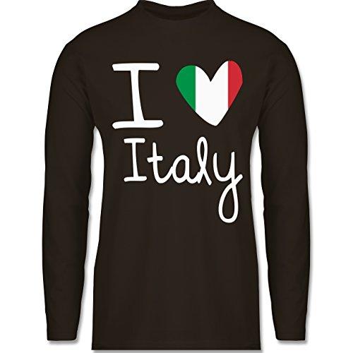 EM 2016 - Frankreich - I love Italy - Longsleeve / langärmeliges T-Shirt für