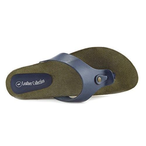 Kick Footwear - Donna Moda Estate Spiaggia Infradito Sandali Scarpe Di Cuoio Naturale Marina