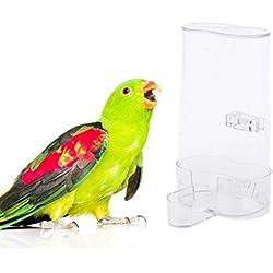 Manyo Alimentador Automático De Aves para Mascotas, Alimentación De Agua De Loro, Bebedero, Clip De Jaula