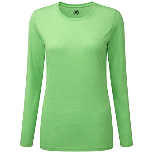 Russell Womens Long Sleeve T-Shirt Pink Marl