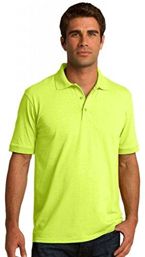 Port & Company hoch 5.5-ounce Jersey Knit Polo kp55t Grün (Safety Green)