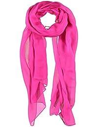 Silk Chiffon Scarf Passigatti silk scarf summer scarf (One Size - pink)