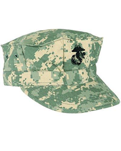Mil-Tec Feldmütze USMC RipStop Mütze Cap Kappe Schirmmütze Jagdmütze S-XXL (XXL, AT Digital) (United Cap Navy States Mütze)