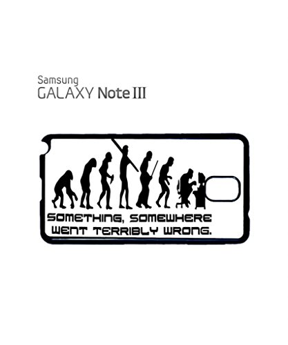 Something Somewhere Went Wrong Evolution Funny Hipster Swag Mobile Phone Case Back Cover Coque Housse Etui Noir Blanc pour for Samsung Note 2 Black Noir