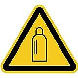 Aufkleber Warnung vor Gasflaschen gemäß ASR A1.3/ BGV A8, Folie selbstklebend 10cm (Warnschild, Gasflasche) praxisbewährt, wetterfest