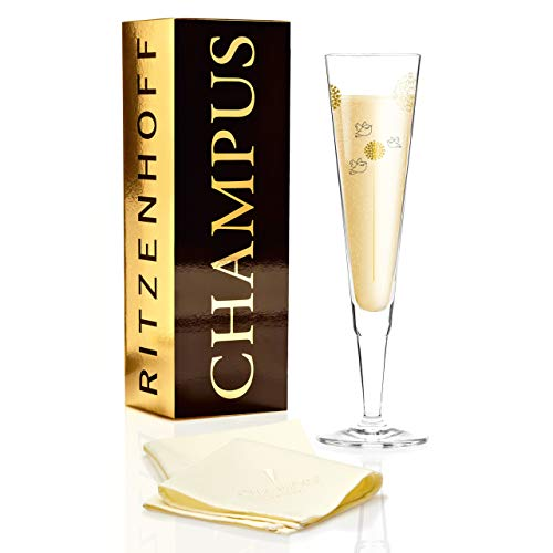 Ritzenhoff 1070233 Champagne Flûte à Champagne en Verre, 7 x 7 x 24 cm, Multicolore