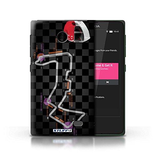 Kobalt® Imprimé Etui / Coque pour Nokia X / Malaisie/KualaLumpur conception / Série 2014 F1 Piste Singapour