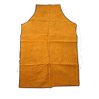HANSHI Heavy Duty Cowhide Leather Workwear Mens Welders Apron Full Length Welding Protection Heat Resistant Heat Insulation Apron (HSW-077)