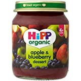 Hipp bio Apple & Blueberry Dessert 4mois + (125g) - Paquet de 2