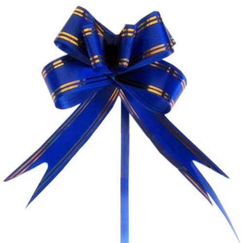 flyyfree-10pcs-large-10-cm-4-in-butterfly-style-golden-edge-ribbon-pull-bow-blue