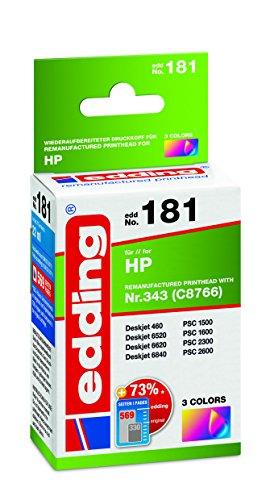 edding 18-181 Druckerpatrone EDD-181, Ersetzt: HP Nummer 343 (C8766),Einzelpatrone, 3-farbig -