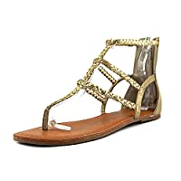 American Rag Womens Amadora Open Toe Casual Strappy Sandals, Gold, Size 6.0 US / 4 UK US