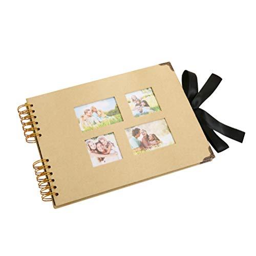 iralalbum Vintage Spiral Scrapbook DIY Kraftpapier Memory Album für Baby Hochzeit Jubiläum Halloween Weihnachten Geschenke (Gelb) ()