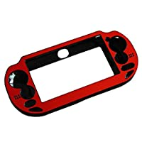 Tenthree Protective Case Cover - Aluminum Metal Hard Case Cover Durable for Playstation PS Vita 1000 PSV Orange