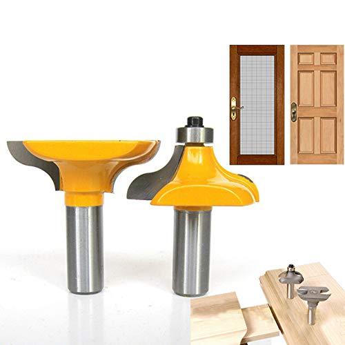HOEN Frässtift mit 12,7-mm-Schaft zum Fräsen von langen Zapfen für Holz-Eingangstüren, Holzbearbeitung, Zapfenschneider für Holzbearbeitungswerkzeuge.