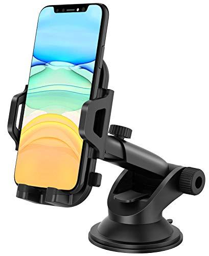 MOSOTECH Handyhalterung Auto, 360° Drehung Armaturenbrett/Windschutzscheiben KFZ Handy Halterung, Universal Handyhalter Auto mit Starker Saugnapf für iPhone 11 Pro Max/XS Max/XR/X, Samsung, Huawei