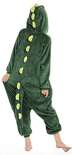 Imagen de abyed kigurumi pijamas unisexo adulto traje disfraz adulto animal pyjamas,dinosaurio adulto talla m para altura 159 166cm alternativa