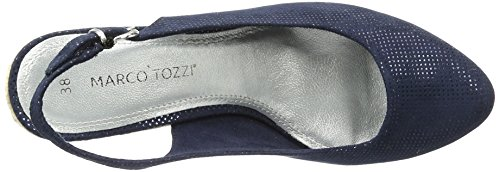 Marco Tozzi Damen 29608 Slingback Blau (NAVY METALLIC 824)